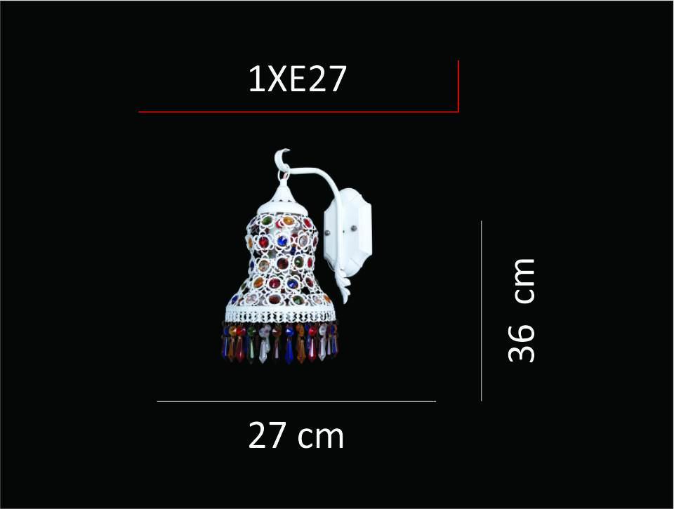 9412/01 WH ESTERGON E27 1X60W APLİK